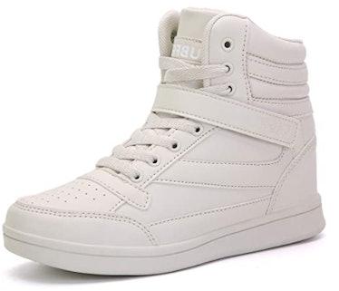 UBFEN Hidden Wedge Platform High Top Sneakers