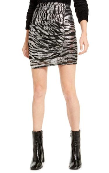Animal Pattern Mini Skirt