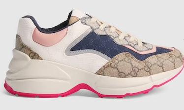 Gucci's GG rhyton chunky sneakers.