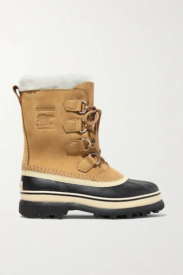 SOREL's fleece-trimmed rubber snow boots.