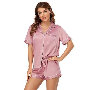 Serenedelicacy Satin Pajama Set