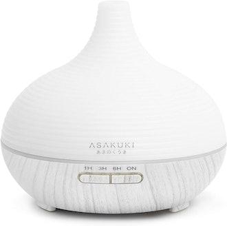 ASAKUKI 300ML Premium Essential Oil Diffuser & Humidifier