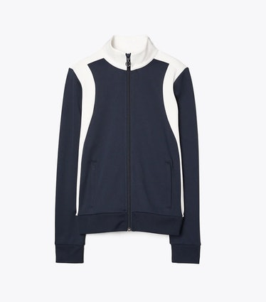 Colorblocked track jacket from Tory Sport, available to shop via Tory Burch.