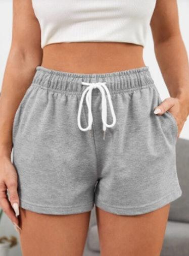 SHEIN Drawstring Waist Track Shorts