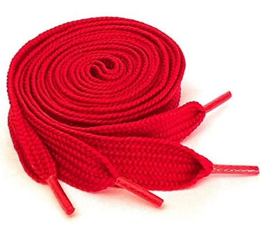 Thick Red Shoelaces for Sneakers, Boots and Shoes