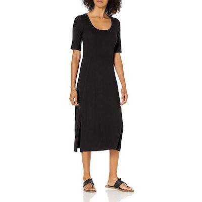 Daily Ritual Fine Rib Scoop Neck Dress