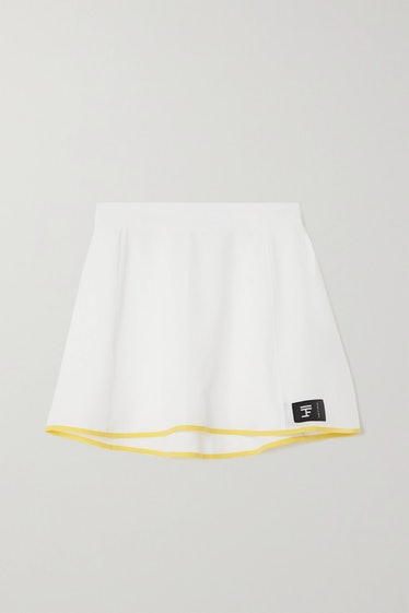 Perforated stretch-jersey tennis skirt from Full Court, available to shop on Net-a-Porter.