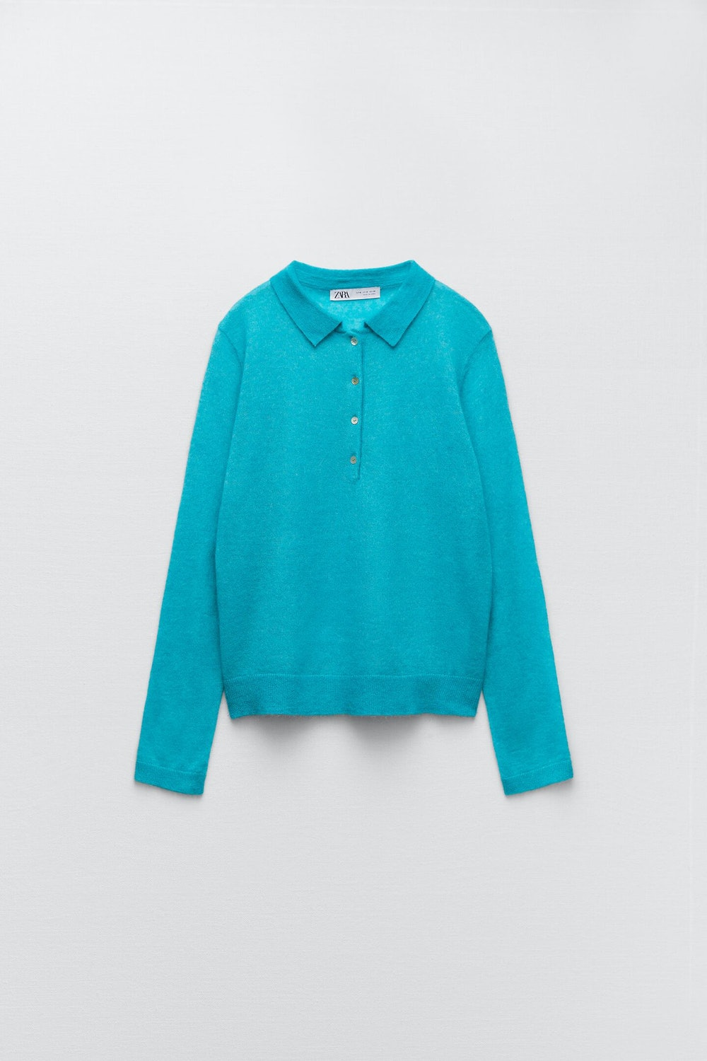 Wool and Alpaca Blend Polo Sweater