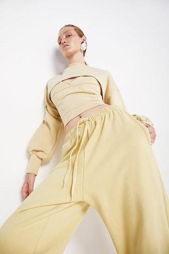 Bibi Cropped Bustier - Pale Yellow