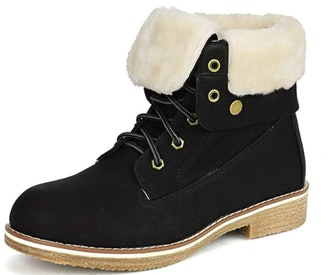 DREAM PAIRS Montreal Faux Fur Ankle Bootie