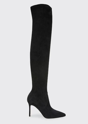 Veronica Beard over-the-knee boots.