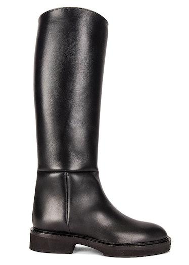 KHAITE's knee high riding boots.