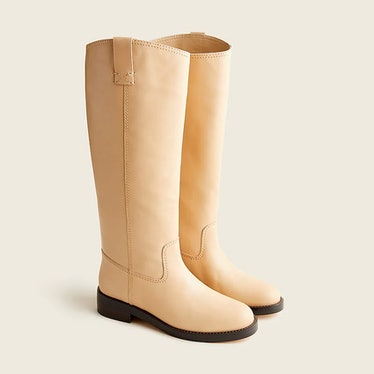 J.Crew's knee-high leather boots.