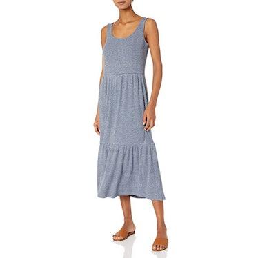 Daily Ritual Cozy Knit Rib Tiered Tank Dress