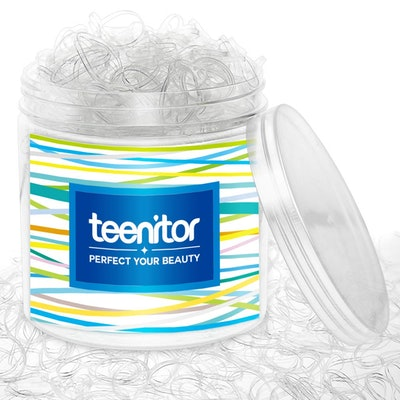 Teenitor Clear Elastic Hair Bands (2000 Pieces)