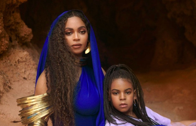 """Blue Ivy with her mother Beyoncé  in the video for """"Brown Skin Girl."""""""