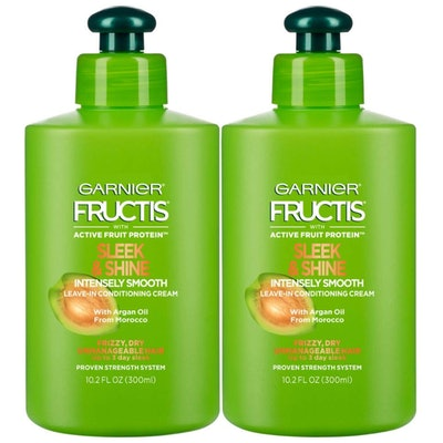 Garnier Fructis Sleek & Shine Intensely Smooth Leave-In Conditioning Cream (2 Pack)