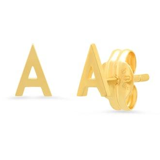 Tai Fine 14k Gold Initial Studs
