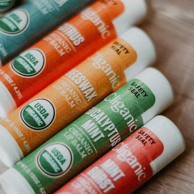 Cliganic USDA Organic Lip Balm Set (6 Pack)