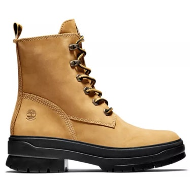 Timberland's lace-up boots.