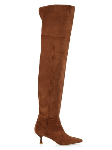 Brother Vellies suede over-the-knee boots.