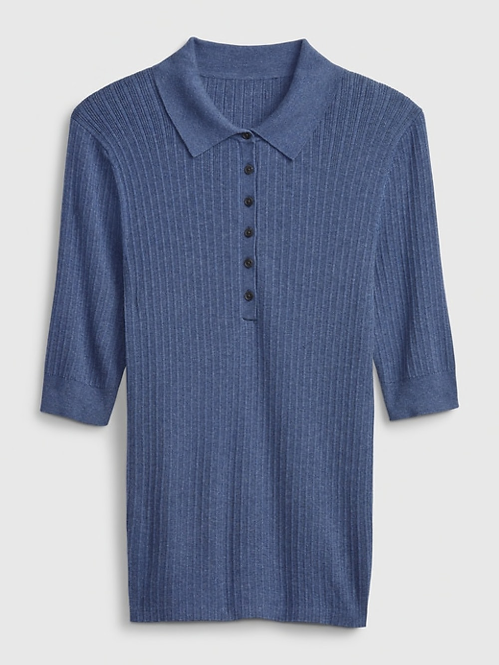 Ribbed Polo Sweater, $49.95 $24