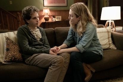 Ben Platt and Julianne Moore in 'Dear Evan Hansen.'