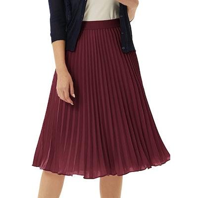 GRACE KARIN Elastic Waist Pleated Chiffon Skirt