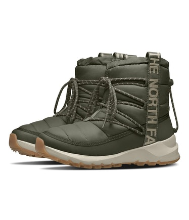 The North Face's Thermoball Lace II snow boots.