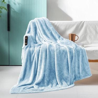 Exclusivo Mezcla Plush Fuzzy Large Fleece Throw Blanket