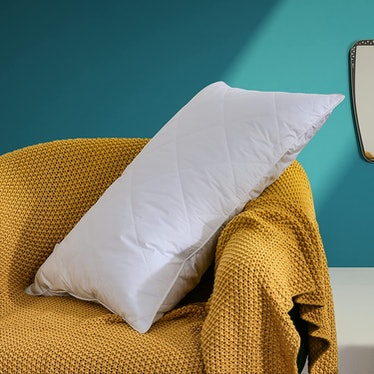 Three Geese White Goose Feather Bed Pillow