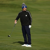 Tom Felton at a golf match in Wisconsin.