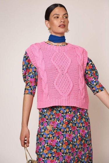 Renee Cable Knit Vest