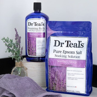 Dr. Teal's Epsom Salt Soaking Solution and Foaming Bath with Pure Epsom Salt Combo Pack