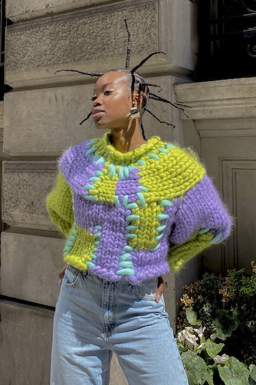 Seaweed Patchwork Colossal Knit Jumper