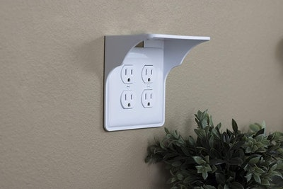Storage Theory Power Perch Double Wall Outlet Shelf