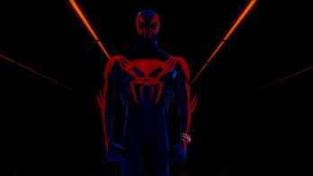 Miguel O'Hara in the post-credits scene of 2018's Spider-Man: Into the Spider-Verse