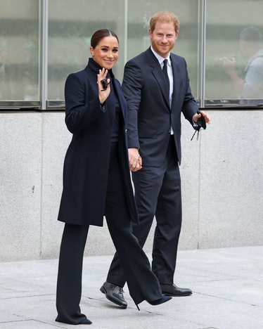 Prince Harry, Duke of Sussex, and Meghan, Duchess of Sussex, visit One World Observatory on Septembe...