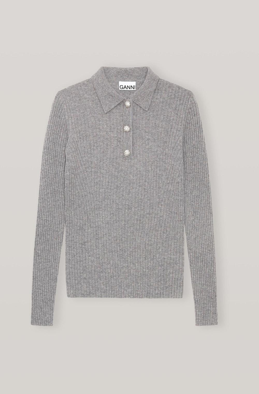 Wool Mix Knit Blouse