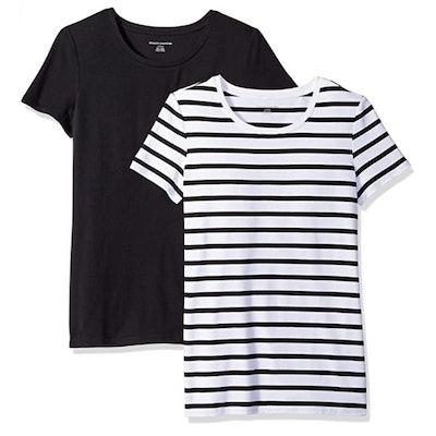 Amazon Essentials Classic-Fit Short-Sleeve Crewneck T-Shirt (2 Pack)