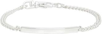 Martine Ali's silver mini ID bracelet.
