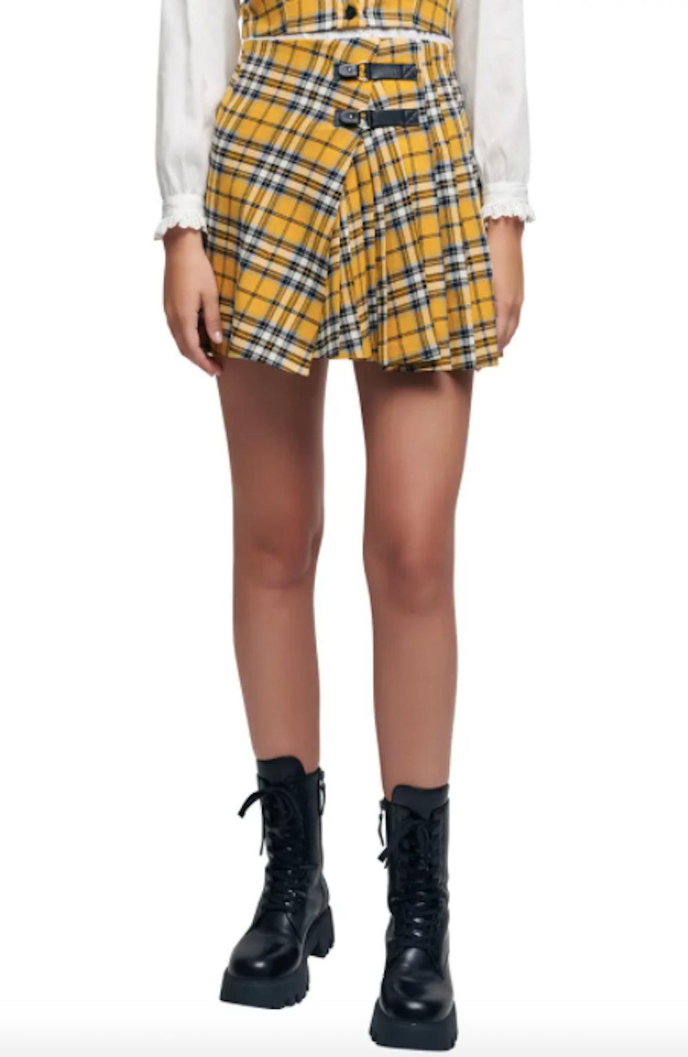 Joris Plaid Pleated Cotton Skirt