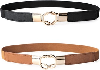 JASGOOD Elastic Waist Belts (Set of 2)