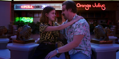 Millie Bobby Brown and David Harbour, shown in 'Stranger Things' Season 3, will return in Season 4.