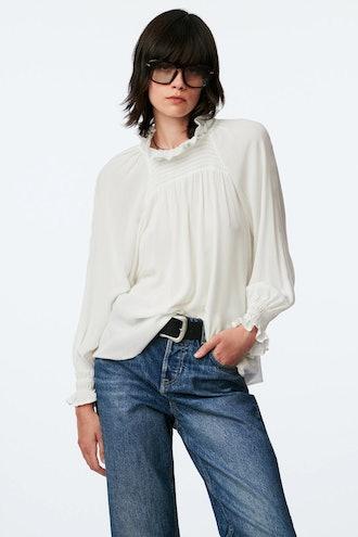 Zara Romantic Lace Blouse
