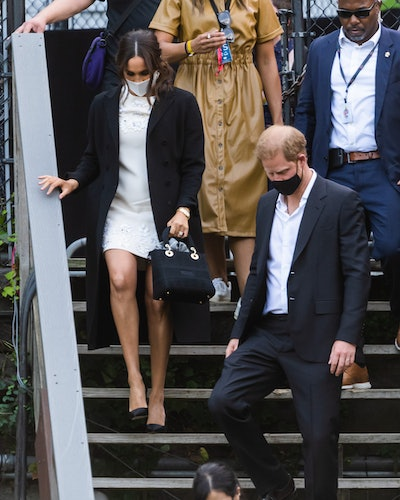Meghan Markle, Duchess of Sussex, and Prince Harry, Duke of Sussex, depart the Global Citizen concer...
