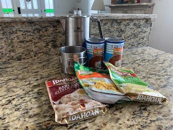 Non-perishable food and coffee percolator example photo
