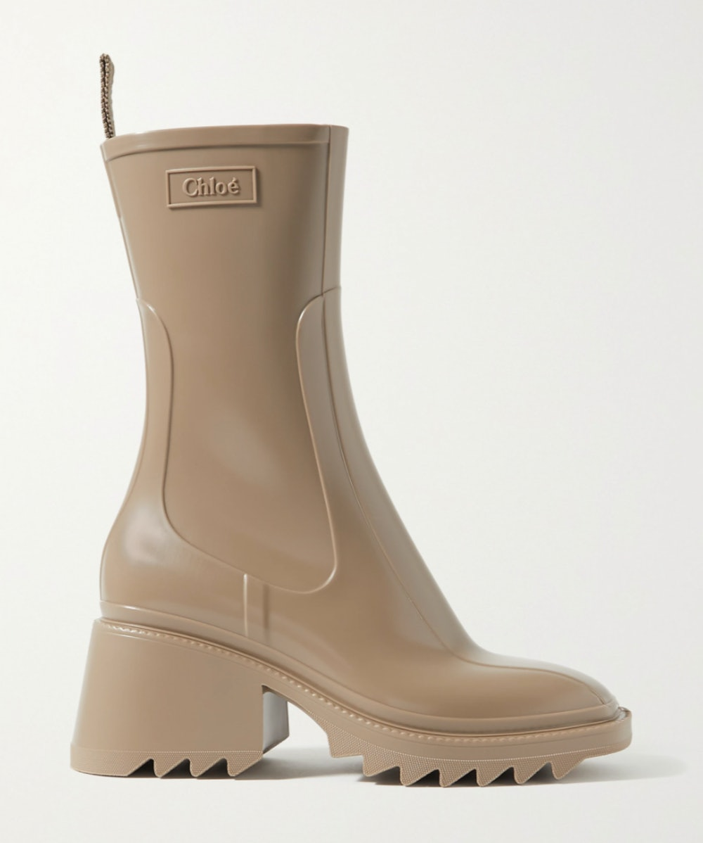 Betty Logo-Embossed Rubber Boots