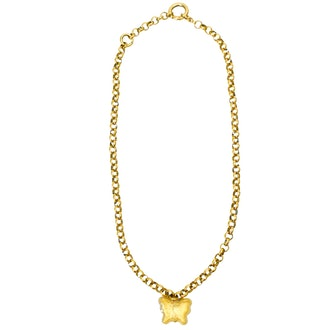 Gold & yellow Gummy Butterly Rolo necklace from Above Average Studio.