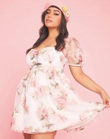 Sugar Thrillz My Darling Rose Babydoll Dress